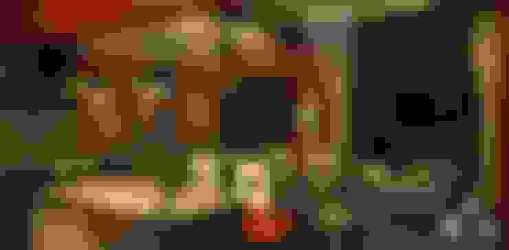 Sala - Comedor: Salas / recibidores de estilo  por Okarq