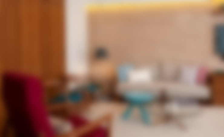 Projeto Apartamento Jardins MBD: Salas de estar  por Ambienta Arquitetura