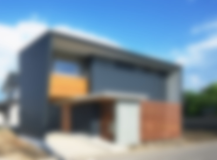 Casas de estilo  por かんばら設計室