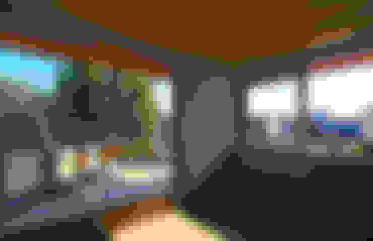 ห้องนั่งเล่น by かんばら設計室