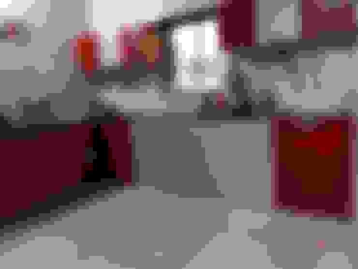 L shape modular kitchen  with wall cabients :  Kitchen by aashita modular kitchen