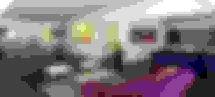 Living ampliado/ Comedor/ Mueble TV: Livings de estilo  por KorteSa arquitectura