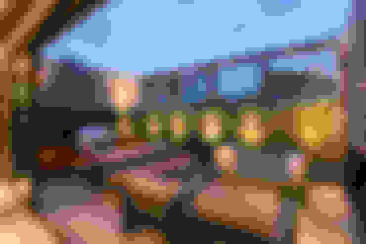 La Fontaine : Terrazas de estilo  por Sobrado + Ugalde Arquitectos