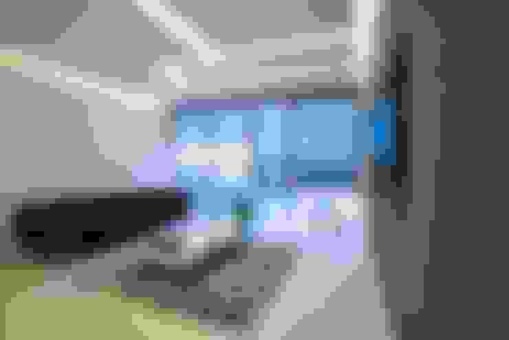 DEPARTAMENTO EN PARQUES POLANCO, CDMX: Salas multimedia de estilo  por HO arquitectura de interiores