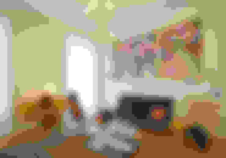 غرفة المعيشة تنفيذ Fabio Azzolina Architetto