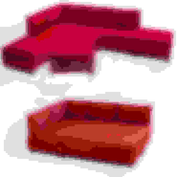 K105 Mobilya Pazarlama Danışmanlık San.İç ve Dış Tic.LTD.ŞTİ. – Fly Yataklı Köşe Koltuk Kırmızı ( 2 Adet Kol Sehbası Hediyeli):  tarz Oturma Odası