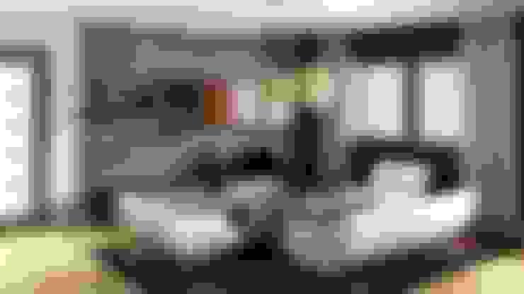 غرفة المعيشة تنفيذ Innovate Interiors & Fabricators