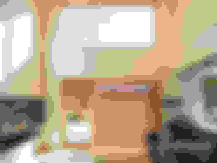 [울진전원주택] 자연속에 빛나는 모던한 디자인: (주)홈스토리의  거실