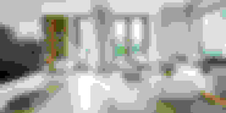 غرفة المعيشة تنفيذ HomeKONCEPT | Projekty Domów Nowoczesnych