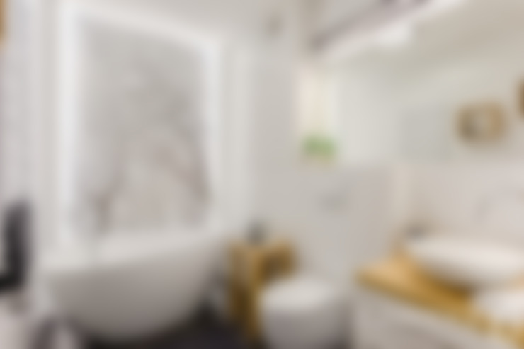 Baños de estilo  por ZAWICKA-ID Projektowanie wnętrz