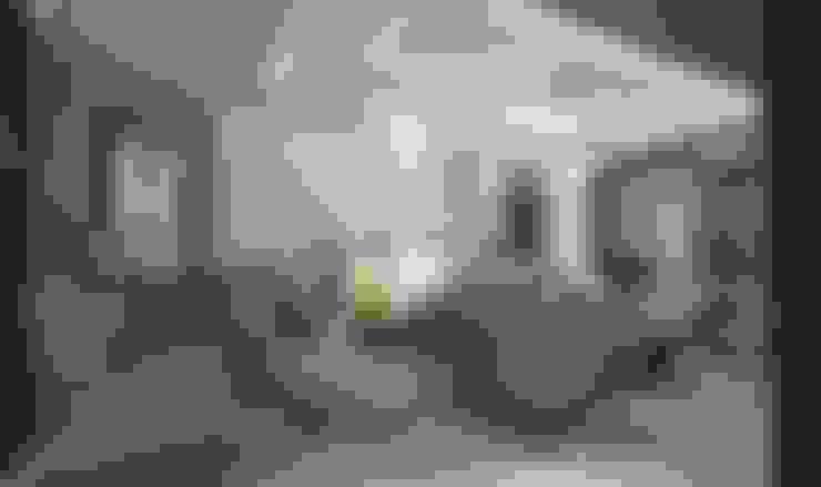 تصميم شقة في الجيزة:  غرفة المعيشة تنفيذ Ain Designs Studio