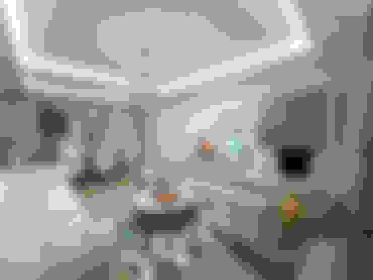 nihle iç mimarlık – Ergun İnşaat Örnek Daire:  tarz Oturma Odası