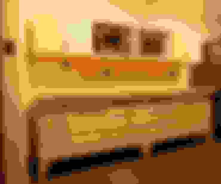 Muebles base y aereo : Cocina de estilo  por Kanda arquitectos