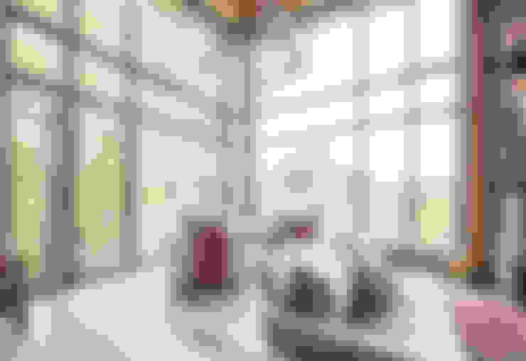 Mad River Chalet:  Living room by BLDG Workshop Inc.