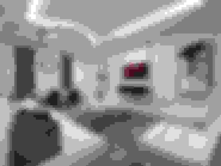 nihle iç mimarlık – KONSEPT YAPI YILDIZ PARK ÖRNEK DAİRE:  tarz Teras