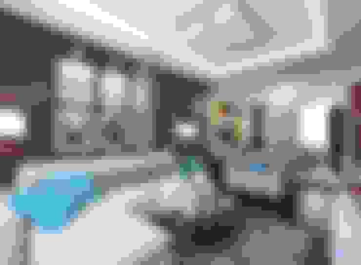 Дизайн гостиной 18 кв м в современном стиле: Гостиная в . Автор – Студия интерьера Дениса Серова