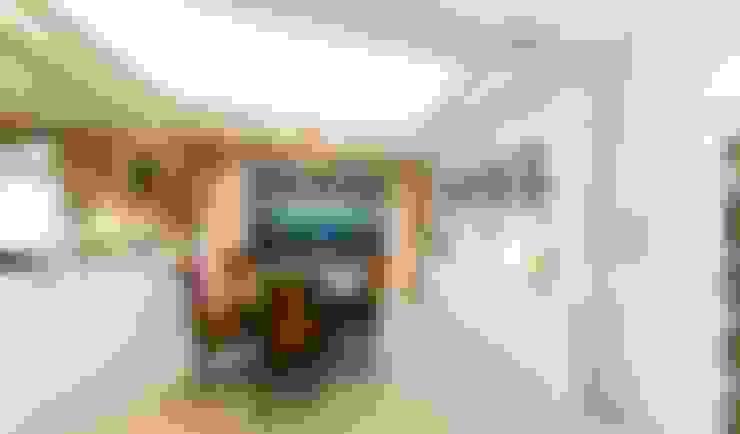 綠意簇擁的新古典宅:  餐廳 by 錠揚設計有限公司
