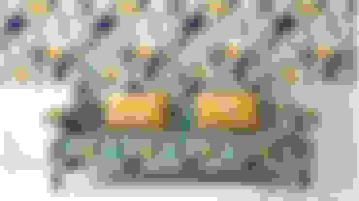 Floral Fun:  Living room by Blake Matthew Design
