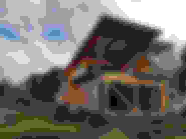 VIVIENDA HUMEDAL DE PUTEMUN: Casas de estilo  por GerSS Arquitectos