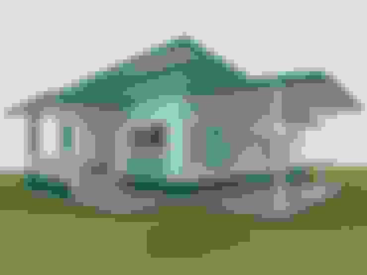 แบบบ้านพักอาศัย ชั้นเดียว 2 ห้องนอน 1 ห้องน้ำ (A1-084):   by aof_101