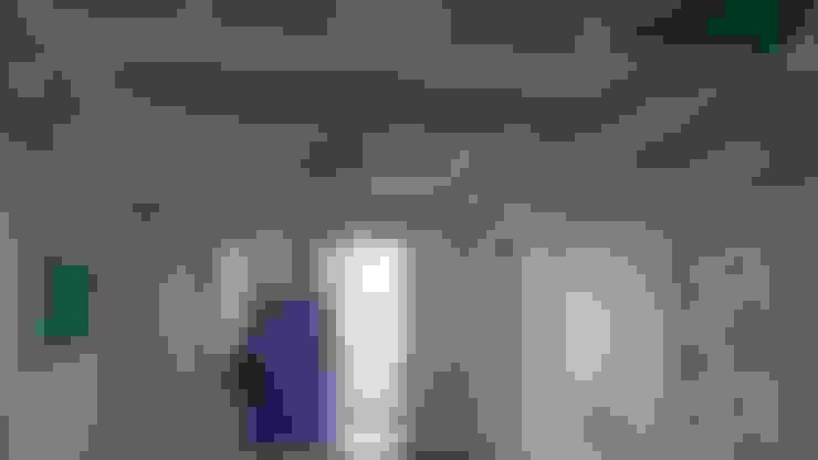 غرفة معيشة :  غرفة المعيشة تنفيذ القصر للدهانات والديكور