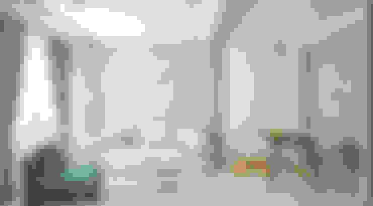 Кухня-гостиная ЖК Новое Измайлово: Гостиная в . Автор – Ирина Рожкова - частный дизайнер интерьера