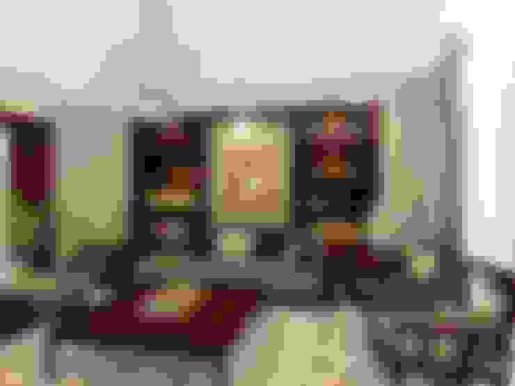 تشطيب فيلا المعادي:  غرفة المعيشة تنفيذ الرواد العرب