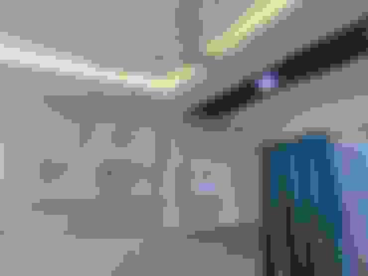 Salas / recibidores de estilo  por Bluebell Interiors