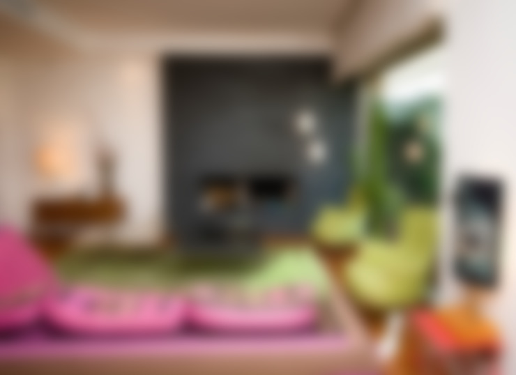 غرفة المعيشة تنفيذ Fabiola Ferrarello architetto