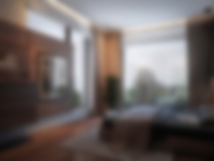 Дом у большой воды: Спальни в . Автор – премиум интериум