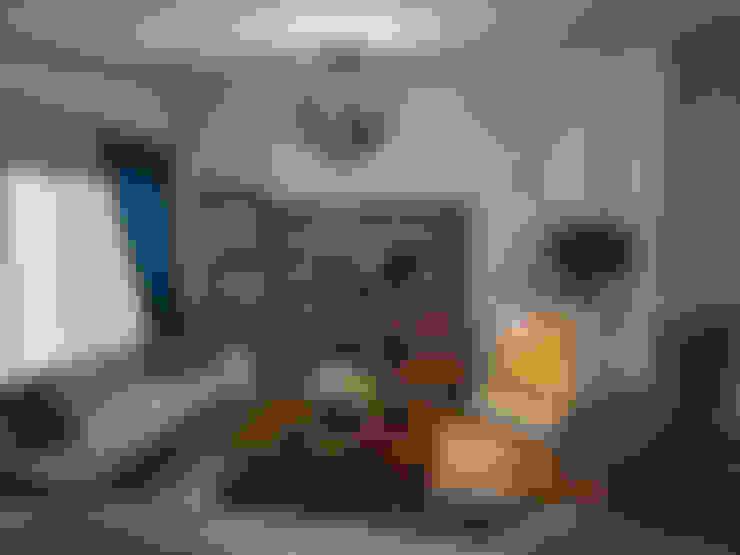 غرفة المعيشة تنفيذ Öykü İç Mimarlık