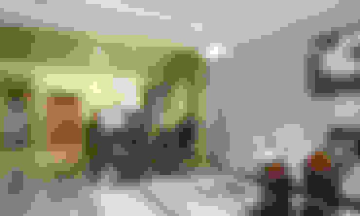 嘉義  科美建設別墅 :  客廳 by 大也設計工程有限公司 Dal DesignGroup