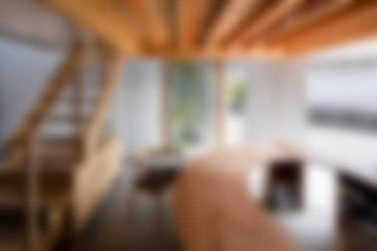 Corridor, hallway & stairs by 建築設計事務所SAI工房