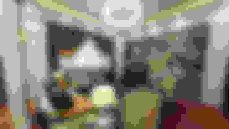 لقطات بسيطة من تصميماتنا الداخلية:  غرفة المعيشة تنفيذ EHAF Consulting Engineers