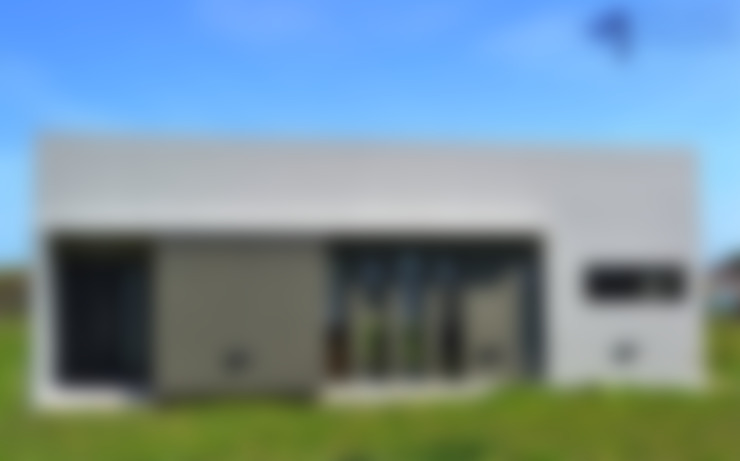 FACHADA FRENTE: Casas de estilo  por Estudio Pauloni Arquitectura