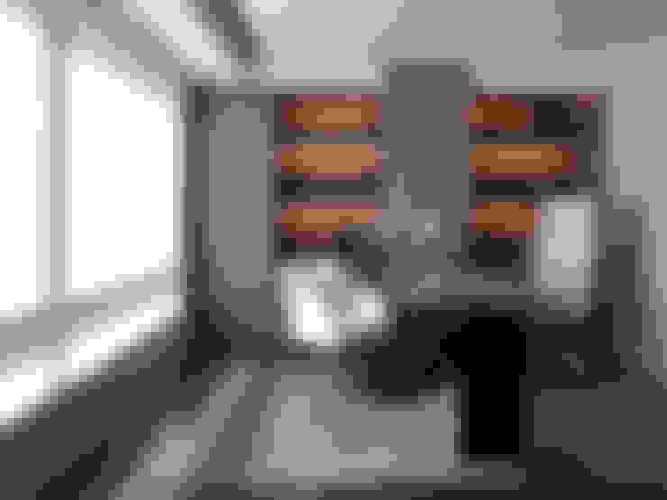 陳宅 Chen Residence:  書房/辦公室 by  何侯設計   Ho + Hou Studio Architects