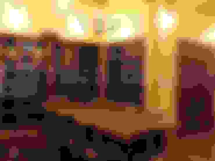 【木建築】宜蘭三星鄉│羅宅│獨棟別墅│建坪126坪:  餐廳 by 閮檍設計 Ting Yi Design