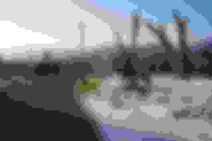 【木建築】宜蘭三星鄉│江宅│獨棟別墅│建坪100坪:  庭院 by 閮檍設計 Ting Yi Design