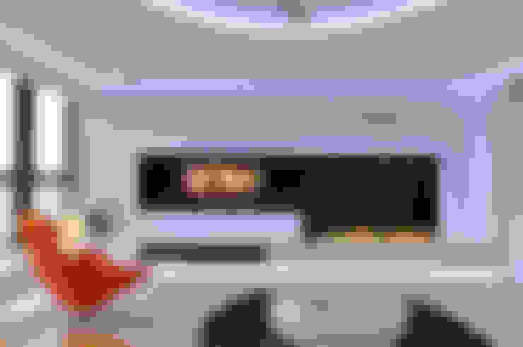 Livings de estilo  por Clearfire - Lareiras Etanol