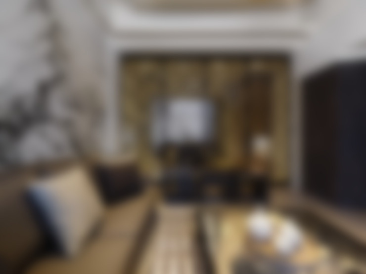 غرفة المعيشة تنفيذ Glocal Architecture Office (G.A.O) 吳宗憲建築師事務所/安藤國際室內裝修工程有限公司