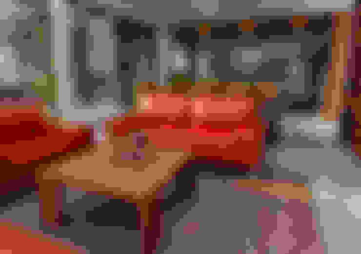 Salas / recibidores de estilo  por unoenseis Estudio