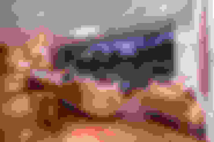 SALA: Salas / recibidores de estilo  por DMS Arquitectas