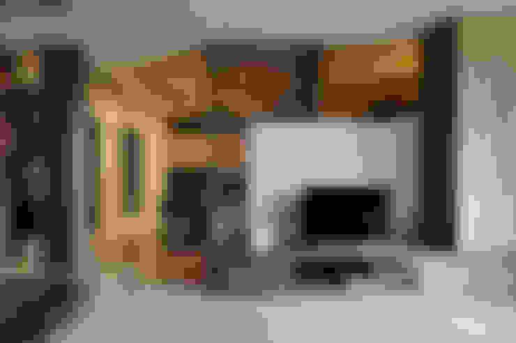 陽光與禪意的美妙交響:  客廳 by 舍子美學設計有限公司