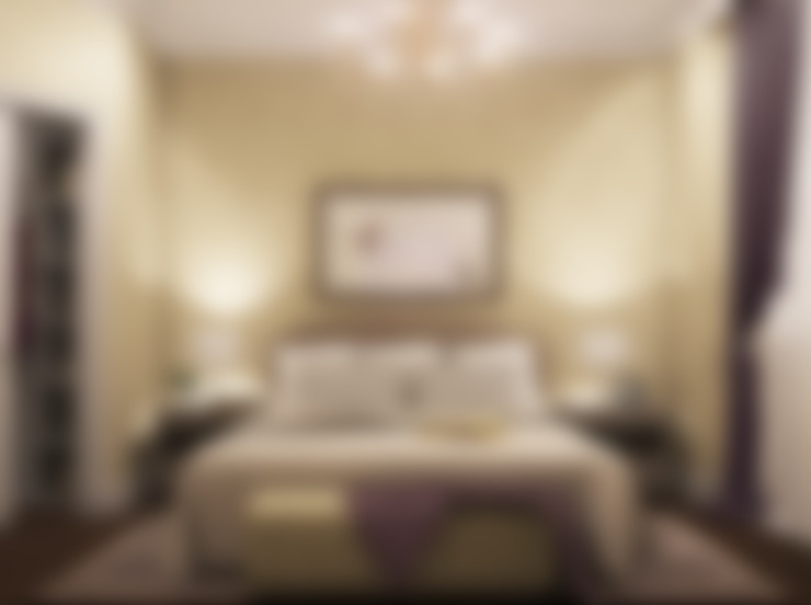 غرفة نوم تنفيذ дизайн-студия ПРОСТРАНСТВО ДИЗАЙНА