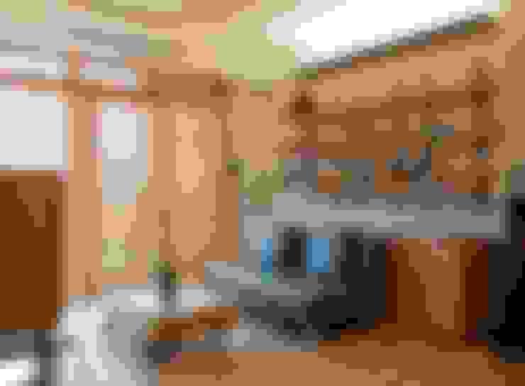 台北黃宅:  客廳 by 直方設計有限公司
