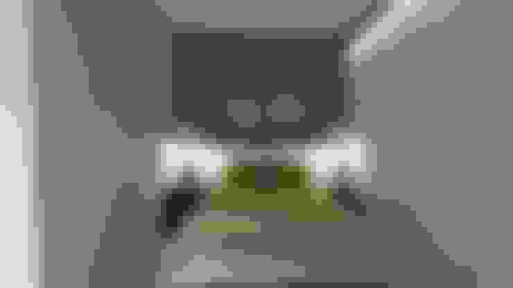 غرفة نوم تنفيذ Andréa Galindo Arquitetura e Urbanismo