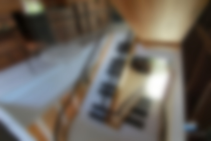 琴鍵樓梯:  餐廳 by 植建築 鉅凱建築師事務所/原果室內創研設計