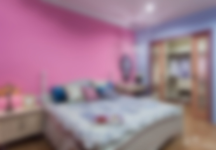 西班牙鄉村風格-透天別墅:  臥室 by 采荷設計(Color-Lotus Design)