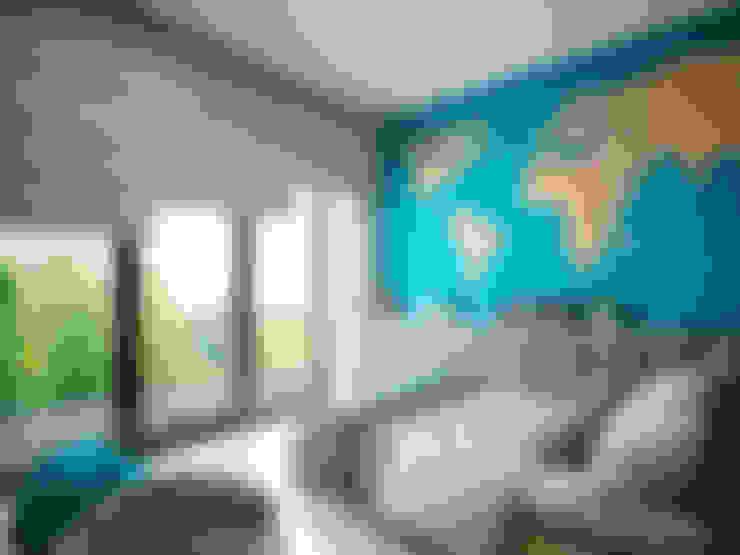 Dormitorios infantiles de estilo  por MIKOŁAJSKAstudio