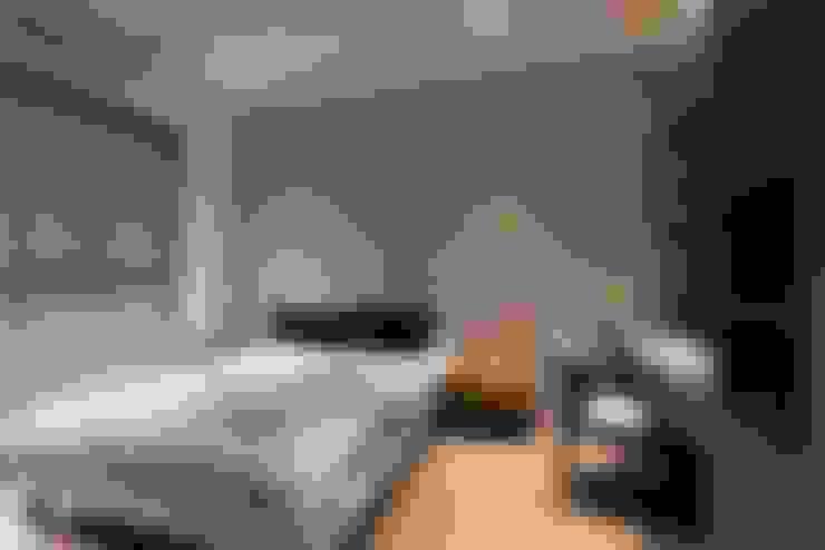 豐邑晴空匯:  臥室 by 立禾空間設計有限公司